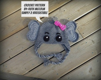 Elephant Hat - Crochet Pattern 76 - US and UK Terms - PDF - Instant Download