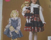 Children's/Girls'/Dolls' Top and Jumpers: McCall's7010 -Sizes 2-5