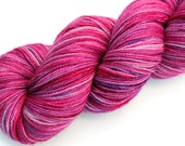 """Kettle Dyed Sock Yarn, Superwash Merino, Nylon and Silver Stellina Fingering Weight, in """"Love Me Do"""""""