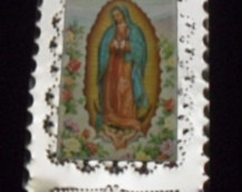 Inspirational Tin Our Lady of Guadalupe, handmade in NM