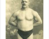 Giovanni Raicevich, wrestler ~ Photo mosaic on Kodak metallic paper ~ 050