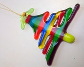 Christmas Tree Festive Hanging Decoration Handmade in Fused Glass