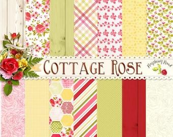 Cottage Rose Paper Set