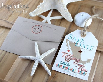 Save the date luggage tags, save the date, luggage tags, invitations