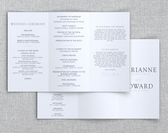 Just My Type Wedding // Tri-Fold Wedding Program // Wedding Ceremony Program // Custom Printable PDF