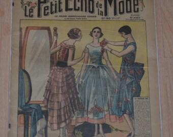 Vintage 1920s Paris Fashion & Sewing Pattern Magazine Le Petit ECHO de la MODE 1929