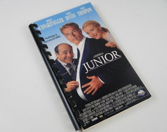 Handmade Junior 1994 Movie Re-purposed VHS Cover Notebook Journal