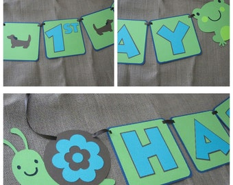 Frogs, Snail & Puppy dog tails Banner