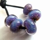 handmade lampwork glass beads, ossa