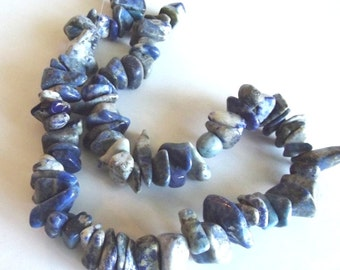 "Lapis Lazuli (Natural) Large Chip Beads, 15"" Strand"