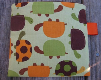 Reusable Snack Bag with Velcro Closure: Turtles