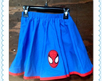 Spiderman Girls Circle Skirt  Size 5T, 6 and 7