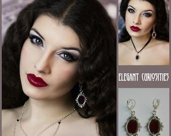 Real rose petal earrings * Elegant Curiosities *