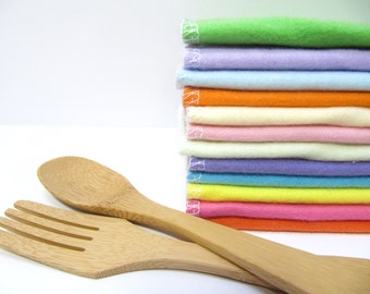 Cloth Napkins, 30 Spring Napkins, Pastel Easter Cloth Napkins, Eco-Friendly Napkins, Spring Cloth Napkins