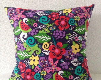 2 Pillow Covers 18x18 inch-Free US Shipping - Floral Home Decor Fabric