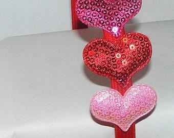 RED HEART SEQUIN headband