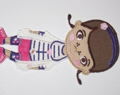 doctor girl/ Doc McStuffins embroidered applique patch