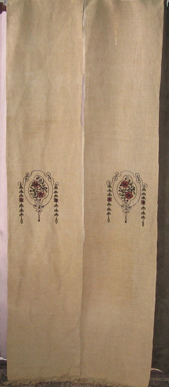 Arts Amp Crafts Curtains Four Panel Portiers For Door By
