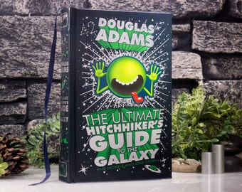 Hollow Book Safe- The Ultimate Hitchhiker's Guide to the Galaxy (LEATHER-BOUND) by Douglas Adams