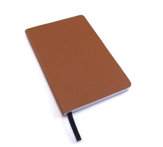 Cognac Notebook, Moleskin Journal, Quarter-Page