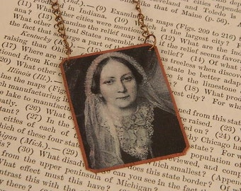 Writers necklace Ellen Wood Literature jewelry mixed media jewelry