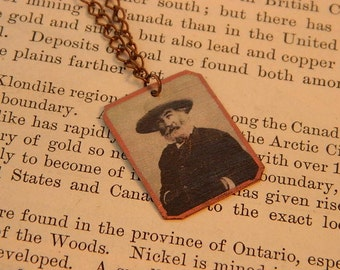Walt Whitman necklace mixed media jewelry literature literary