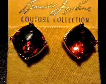 Vintage Kenneth Jay Lane Clip on Earrings Couture Collections