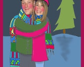 Personalized family Printable Holiday Christmas Card, Digital