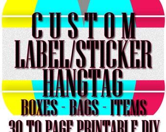 CUSTOM  Label - HANGTAG - Sticker Printable DIY, Custom Design Jewelry Label - Product Design Label/Sticker, Custom Package Design