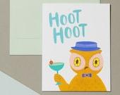 Hoot Hoot Hooray Cheers Card Set (Single)