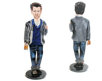 Colin Farrell Hand Painted 2D Art Figurine