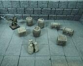 Barrels, Crates, Treasure Chests and Sacks