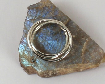 Three Ring Rolling Ring, Sterling Silver, Made to Order