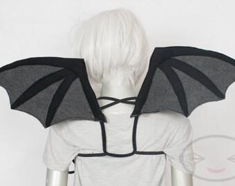 Standard Black Devil Bat Wings