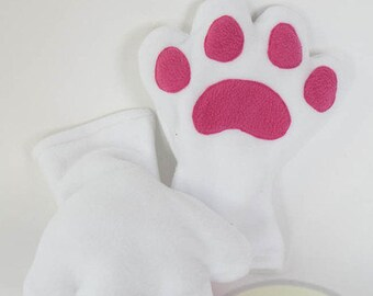 White Paws, Fleece, Claws, Accessory