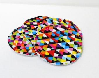 Fabric Coasters, Confetti, Set of Two