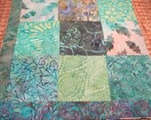 """14"""" x 14""""  Pillow Cover - Woodland Solitude Quiet Nature's Leaves Song Bird Garden Green Leaves Fine Batiks"""