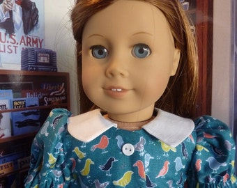 """18"""" Molly/Emily American Girl Historically Accurate Dress"""