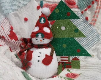 Snowman Decoration Ornament White Snowman Christmas Decoration Stocking Stuffer Wonderful Gift