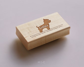 Yorkie - Personalized Address Stamp