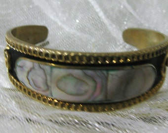 Vintage Mexican Alpaca Cuff Bracelet-Stunning