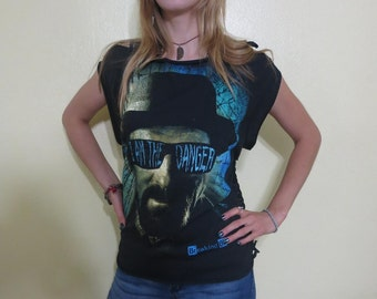 Breaking Bad - I'm the Danger - Walter White Shredded Tshirt One Of A Kind