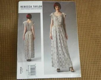 Vogue Dress Pattern By Rebecca Taylor Size 8-16 Pattern V1352