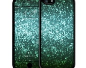 Teal Black iPhone Case - iPhone 6 Case Skin, iPhone 5/5S Case Skin, iPhone 5c Cases, Iphone 4/4S case, iPhone 6 plus Glitter cases Skins