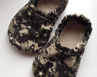 Military Army baby booties