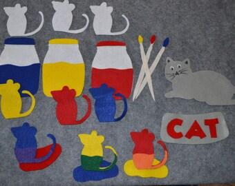 Mouse Paint Felt Story