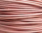 0.5mm Light Pink Leather Cord - 3 Yards / 9 Feet / 2.74 Meters