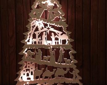 Nativity Light Tree