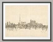 Toronto Canada Skyline Sheet Music Cityscape, Art Print (1388)