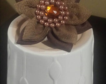 Brown flower ring